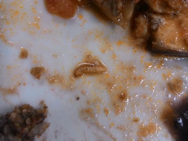 Denúncia de larvas encontradas em comida servida em hospital de Joinville