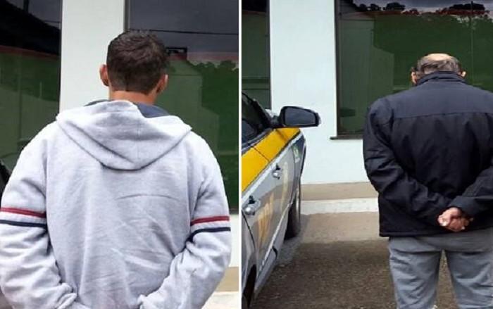 Dois homens com mandado de prisão em aberto são presos na BR 280 pela PRF