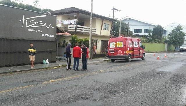 Ciclistas se envolvem em acidentes em Jaraguá do Sul