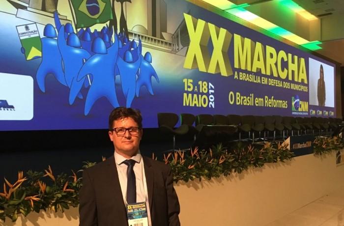 Prefeito de Corupá participa da Marcha dos Prefeitos em Brasília