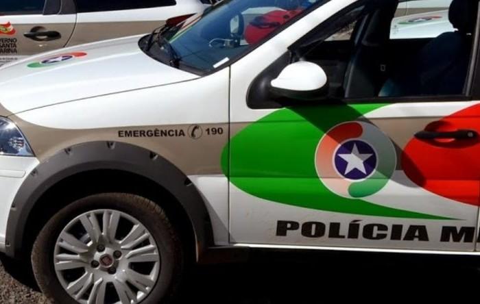 PM prende condutor de moto em blitz em Corupá