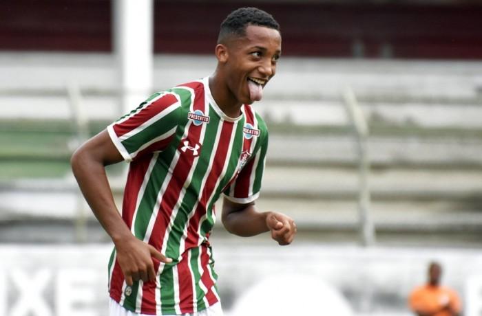João Pedro fez dois gols na vitória do Fluminense. Foto: Rafael Oliveira