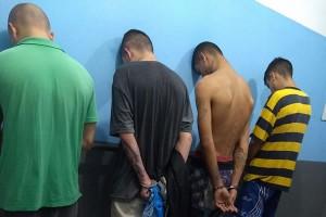 4 assaltantes presos (Foto: 14º Batalhão/Divulgação)