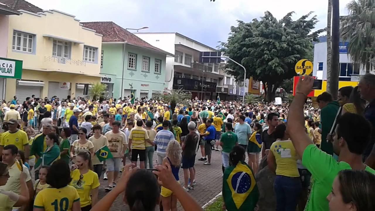 Manifestação em Jaraguá do Sul