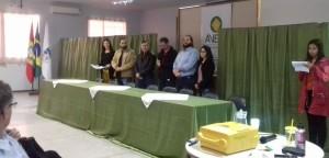 Autoridades presentes na abertura da Semana de Ética e Cidadania