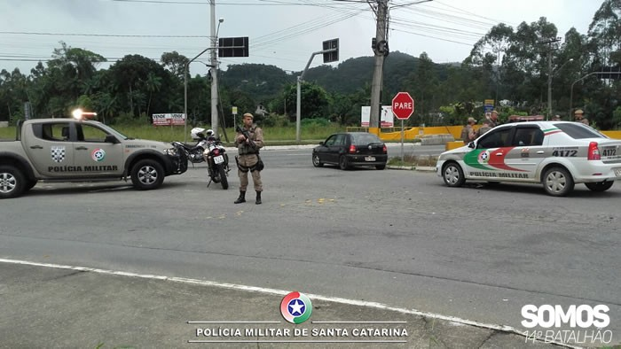 Rua Fidelis Stinghen, é um dos acessos à BR-280, no bairro Centenário. Foto: Polícia Militar