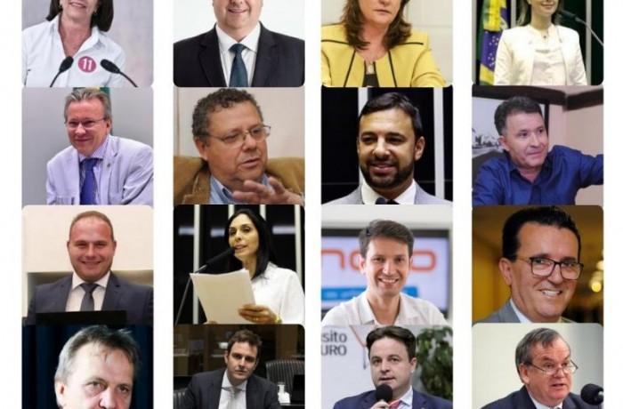 Deputados federais de Santa Catarina(Foto: Montagem sobre fotos/Arte NSC)