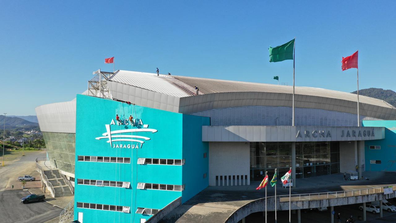 Principais atividades da programação acontecem na Arena Jaraguá. Foto: Prefeitura de Jaraguá do Sul