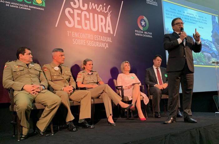 Participação de Jaraguá do Sul, no primeiro Encontro Estadual sobre Segurança Pública. Foto: Acijs