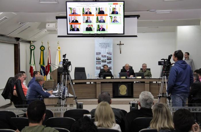 Sessão ordinária sepultou  alteração na LOM, que parte da população defende. Foto: Câmara de Vereadores de Jaraguá do Sul