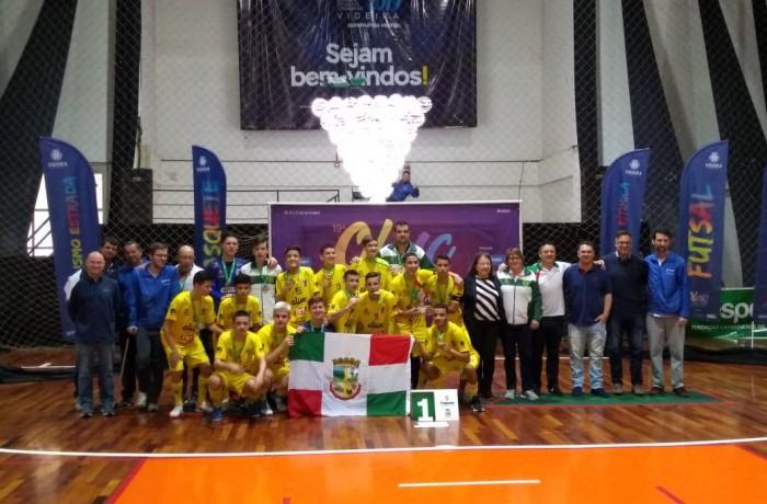 Futsal masculino sagrou-se campeão da Olesc. Foto: Prefeitura de Jaraguá do Sul