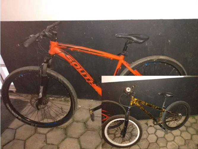 Bicicletas furtadas foram recuperadas nessa terça-feira, em Jaraguá do Sul. Foto: Polícia Militar
