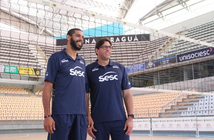 Campeões Olímpicos Wallace e Giovani Gavio. Foto: Prefeitura de Jaraguá do Sul