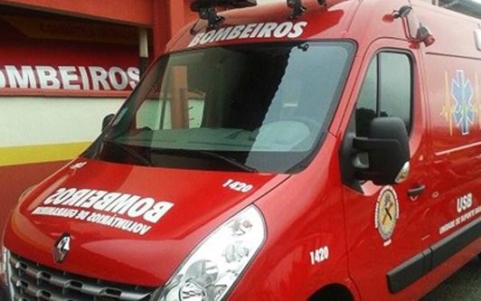 Queda de moto deixa motociclista ferido na BR-280 em Guaramirim