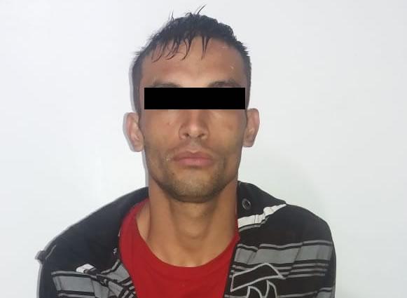 Preso criminoso que se envolveu em roubo em Jaraguá do Sul. Foto cedida pela Polícia Militar
