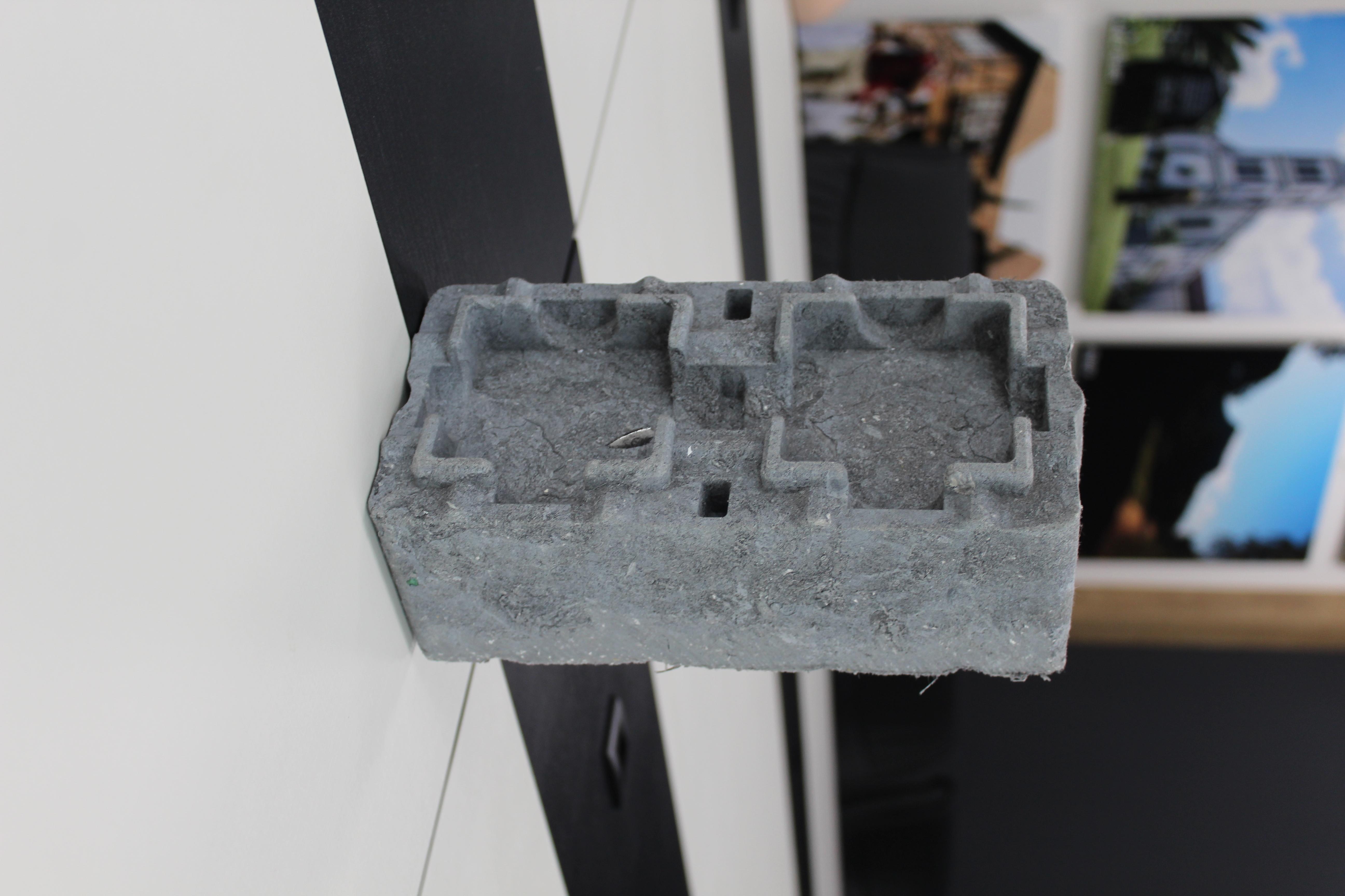 Tijolo feito de material reciclado