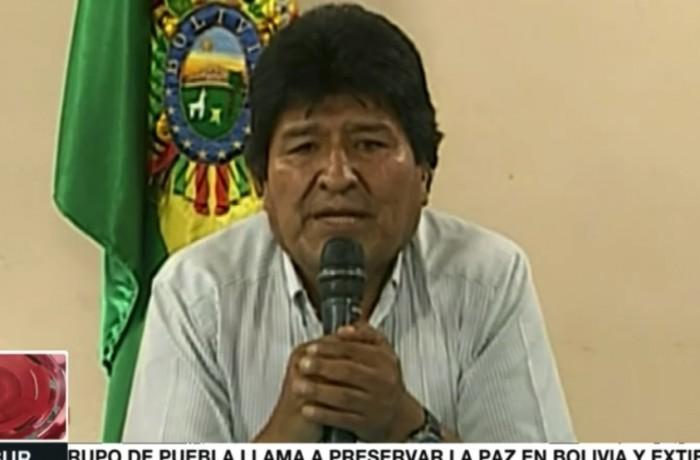 Evo Morales renuncia (Reprodução/TELESUR TV)