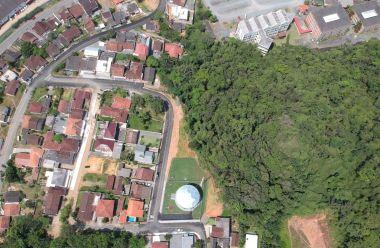 Reservatório construído no Morro do Picolli, será inaugurado sábado. Foto: Samae
