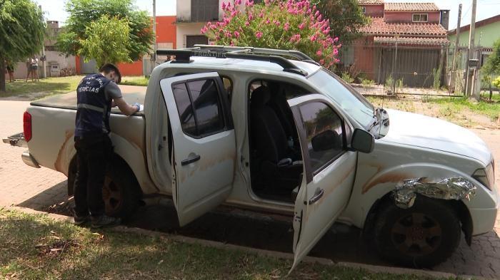 Frontier em que homem foi levado por criminosos é periciada nesta tarde em Pelotas RBS TV / Reprodução