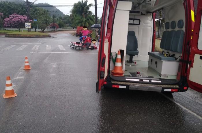 Foto cedida pelos bombeiros voluntários de Schroeder