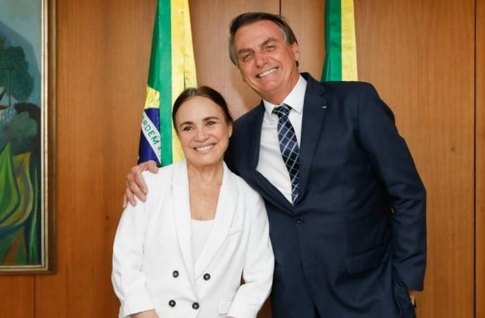 Encontro de Regina Duarte com Bolsonaro no Planalto Foto: Carolina Antunes / Agência O Globo