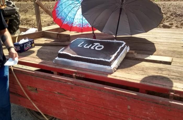 Bolo de 1 ano de interdição da SC-108 em Guaramirim. Foto: Redes sociais