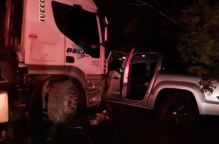 Engavetamento entre quatro veículos na BR-280 deixa um morto e outros três feridos