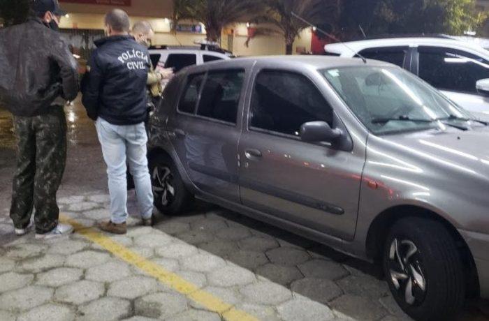 Carro de vítima foi encontrado em estacionamento de supermercado – Foto: Polícia Civil/ND