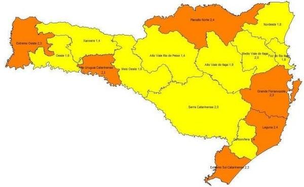 Na atualização, o Estado aparece em uma situação melhor. — Foto: Secretaria de Estado de Saúde/Divulgação