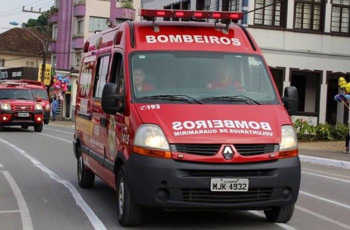 Homem sofre acidente de trabalho em Guaramirim