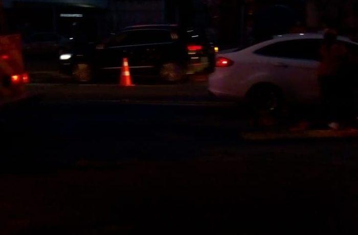 Acidente entre carros é registrado na BR-280, em Jaraguá do Sul