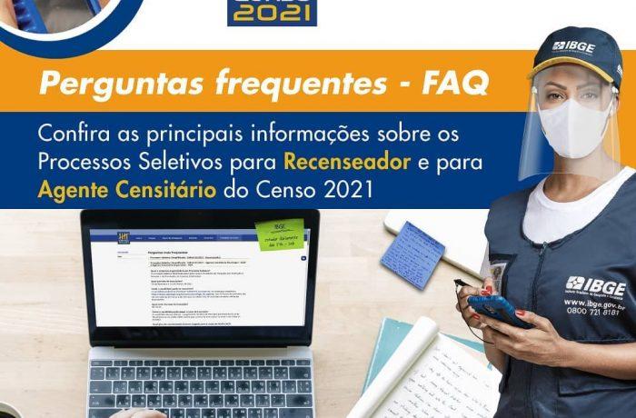 Guaramirim tem 44 vagas para censo do IBGE