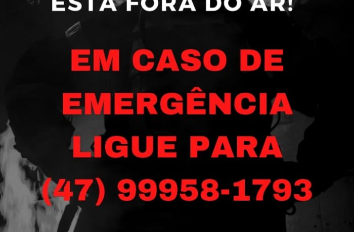 Telefone 193 dos Bombeiros Voluntários de Jaraguá do Sul está fora do ar nesta quarta-feira (14)