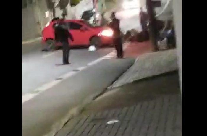 Colisão entre carro e moto deixa motociclista ferido no bairro São Luís