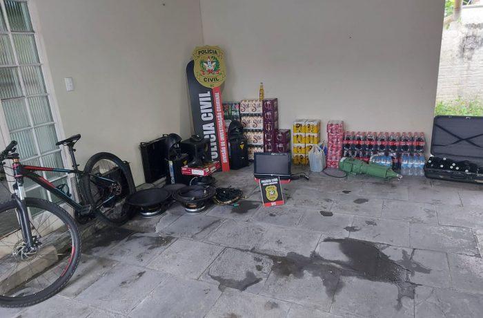 Jaraguá: Polícia Civil prende autor e recupera 30 mil reais em produtos de furto