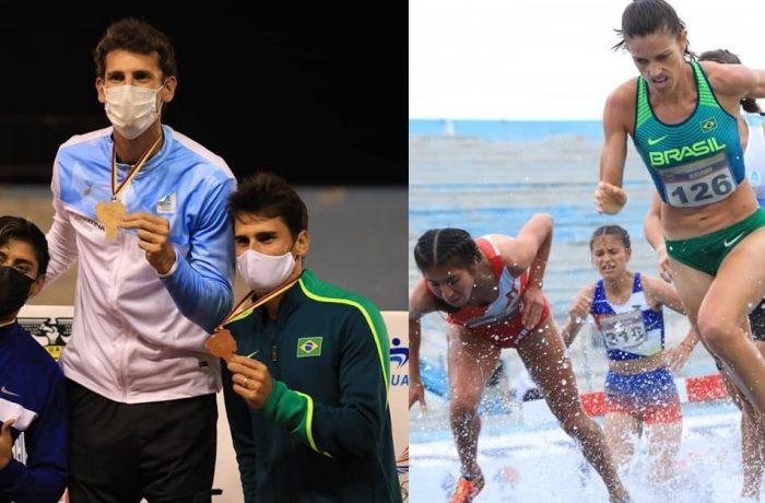 Simone e Abel conquistam medalhas no Sul-Americano de Atletismo