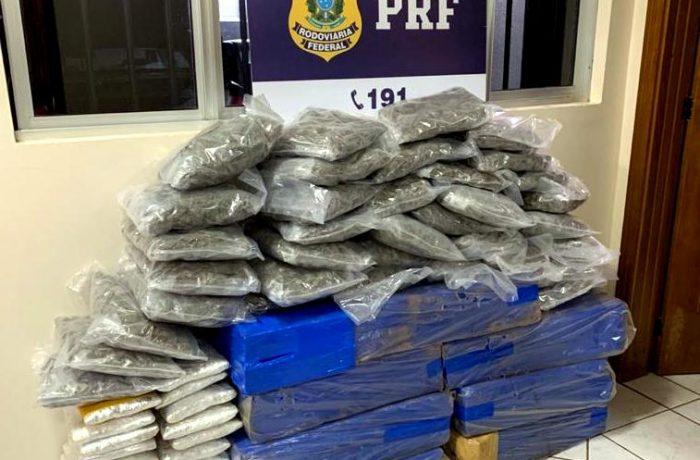 PRF apreende quase 240 kg de maconha e skunk em SC