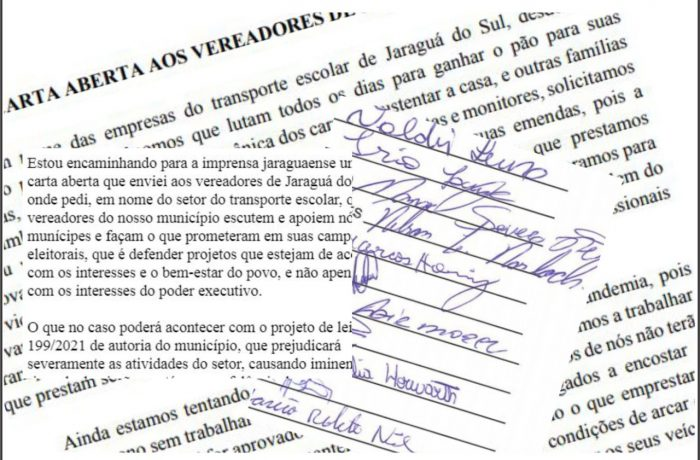 Motoristas do transporte escrevem cartas de apelo contra projeto do Executivo