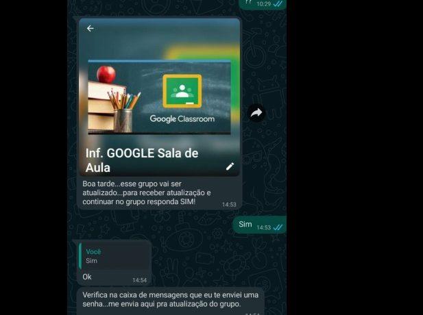 Educação de Jaraguá alerta para golpe que utiliza o Google Sala de Aula