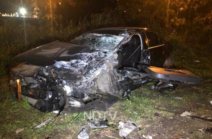 Motorista fica presa nas ferragens após grave acidente em São Francisco do Sul