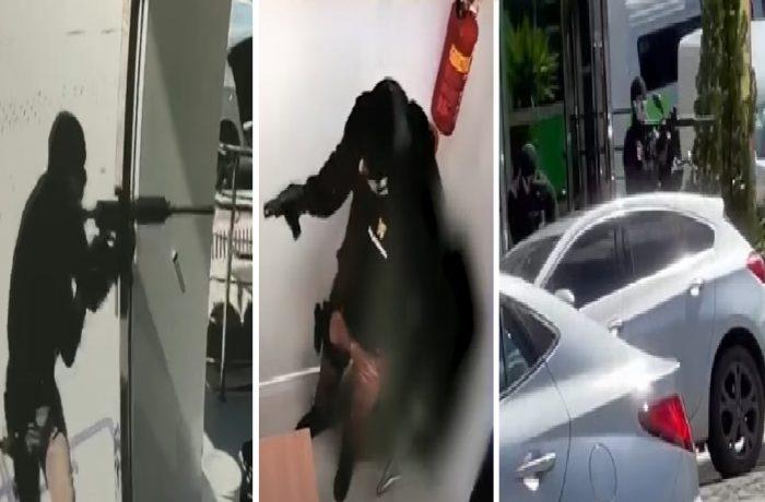 (Vídeos) Homens fortemente armados assaltam agência bancária em SC